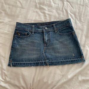 A&F denim mini skirt (Sz 2)